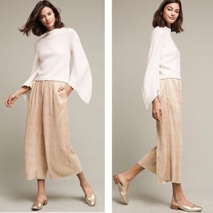 ELEVENSES - Gilded Culottes Pleated Pants, XL